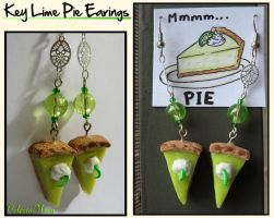 Key Lime Pie Earings by CelesteMoon