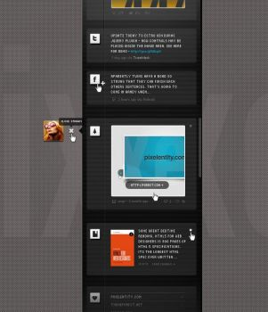 Stream vCard Free PSD Template by pixelentity