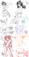 Homestuck Sketchdump by Moegiiro