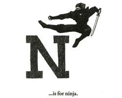 N is for Ninja by scheherazade