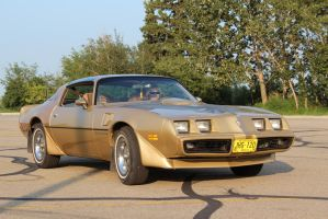 Golden Trans Am by KyleAndTheClassics