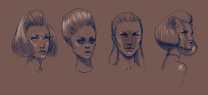 Head Sketches II by NyleLevi