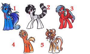 PONY ADOPTION - OPEN! PRICE LOWERED!!! ONE LEFT!!! by OfficerPony