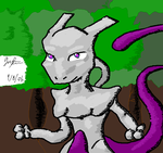 Forest Mewtwo by FusionWarrior