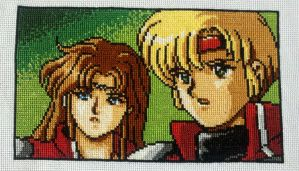 Phantasy Star screenshot for BMH, cross-stitched by starrley