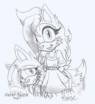 Mi-Cha And Mi-Hi-Feral-Spirit style- by RoninHunt0987