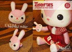 Zoofties :: Bunny for Zoe (+ponytail) by Nestery