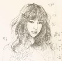 Unfinished Sketch of Bom by Jelenie08