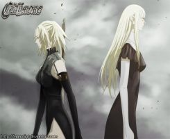 Claymore - Miria and Galatea by NanoCigT