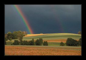 Rainbow and Fields by Hartmut-Lerch
