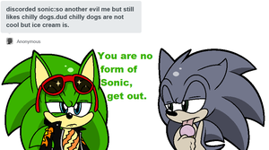 Discorded Sonic, you suck by Scourgey-ouo