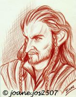 Thorin Oakenshield, sanguine portrait by jos2507