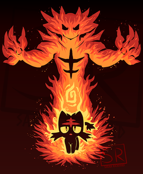 Inner Fire Cat - Litten shirt design by SarahRichford