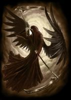 Black Angel accompanying Print by AndrewDobell