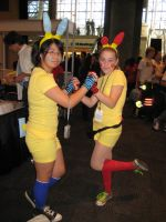 Plusle And Minum by Mew-Suika-Chi