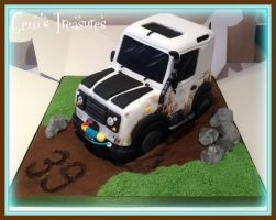 Land Rover Cake by gertygetsgangster