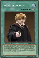 Yugioh cards Ronald Weasley by ghost-zero