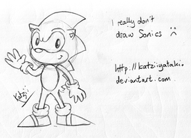 Sonic being drawn. by soncomsketchbook