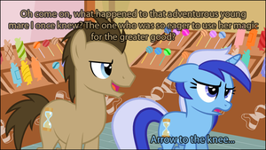 She used the be an adventurer like you... by TriteBristle