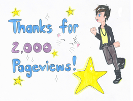 Thanks for 2000 Pageviews! by SasukeUchihable
