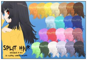 Split Hair CSU Models by LadiSilverfox