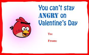 Angry Birds valentine card by rabbidlover01