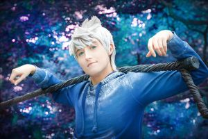 Jack Frost Cosplay - Close-up by Azure-Hawker