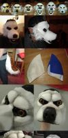 Fursuit mask part 02 by MorningsunManedWolf