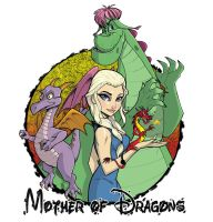 Mother of Dragons: Disney/Game of Thrones Mashup by Hodges-Art