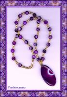 'PURPLE PASSION' AGATE COLLIER by Voodoomamma