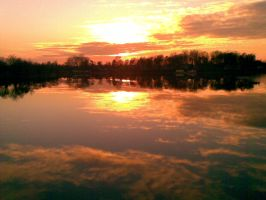 Sunset on Silver lake by ColorsOfAnonymos