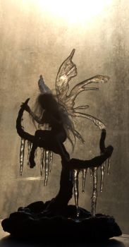 Ice Fairy Sculpture IV by SovaeArt