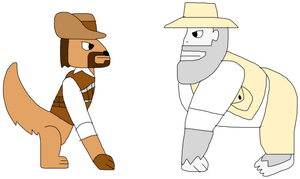 James Lee Quatermain and Professor Challenger by jacobyel