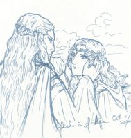 The Home-coming of Galadriel by fish-in-fridge
