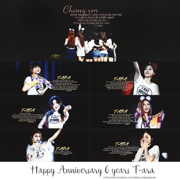{Quotes} Happy Anniversary 6 years with T-ara by PeGau