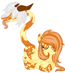 Pumpkin Spice Primal Plant Pony Adopt OTA :OPEN: by Sky-draws-things