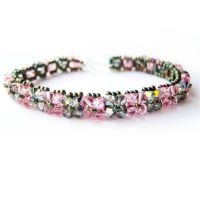 Rose and Sahara Woven Bracelet by lulabug