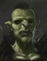The Orc King's Daughter WIP by Erebus88