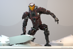 Mech Android Warrior Pose4 3d by cytherina