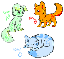 Element Puppies - FINISHED by MooMooAdopts