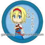 Alice Margatroid pin by GarlandScarlet