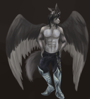 Commission: Tapewolf (Jakob) by mouseymachinations