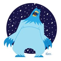 Abominable Snowman by NLark