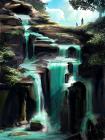 110 - Hidden waterfall by e-will