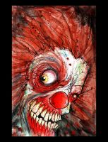 zombie clown by BYRONvonREMPEL