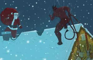 Santa vs Krampus by Juggertha