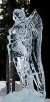 Ice angle statue with sword by veritasBtold