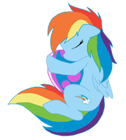 Sleepy Rainbows by kingsmannoose