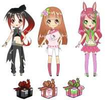 Mystery box adoptables by YuikoHeartless