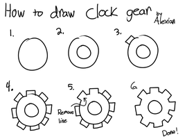 How to draw clock gear by GodKingGaius